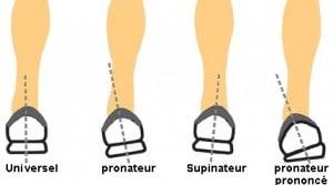Type de pieds
