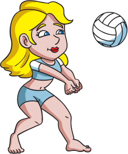 Fille beach volley