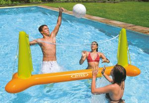Filet de volley-ball flottant piscine